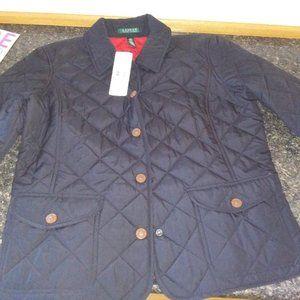 Ralph Lauren field jacket black womens large